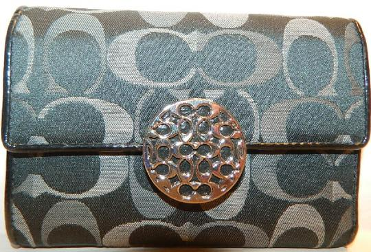 Coach ~Like New~Sold out COACH Alexandra Signature 3 Color Med Wallet Image 11