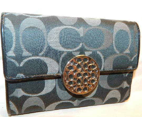 Coach ~Like New~Sold out COACH Alexandra Signature 3 Color Med Wallet Image 7