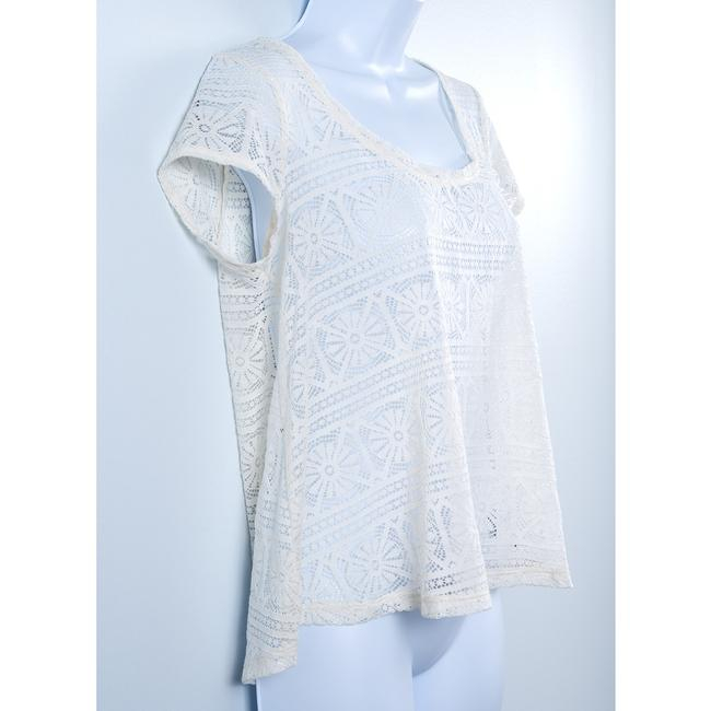 American Eagle Outfitters Lace Sheer Top Cream Image 2