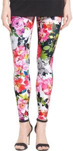 Hue floral pink black Leggings