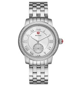 Michele Harbor Diamond Dial Watch