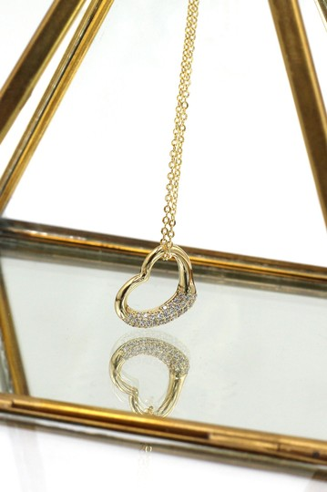 Ocean Fashion 925 Gold Cabinet micro crystal heart necklace Image 2