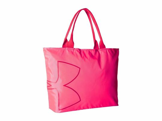 Under Armour Tote in Pink Shock (683) / Pomegranate Image 3