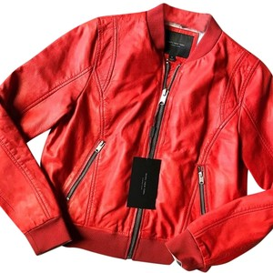 Andrew Marc Red Leather Jacket