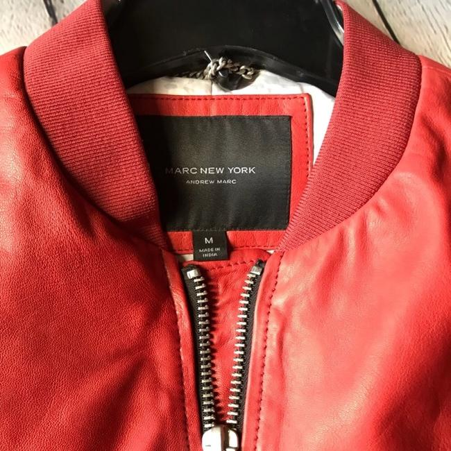 Andrew Marc Red Leather Jacket Image 1