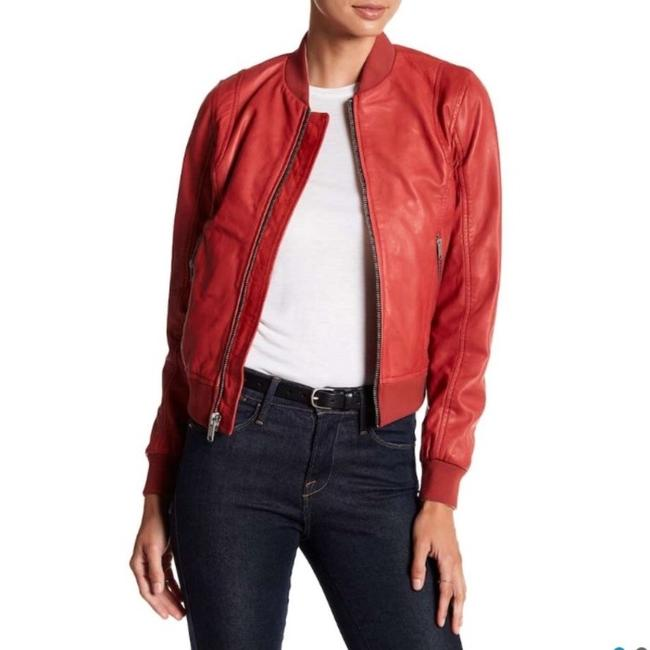 Andrew Marc Red Leather Jacket Image 5