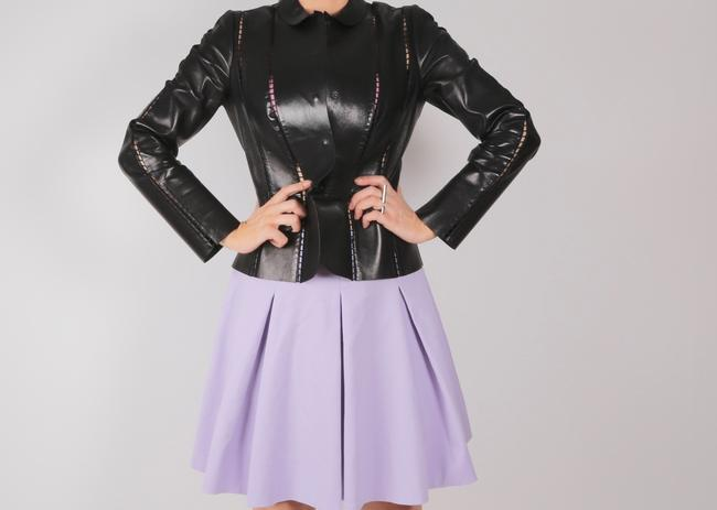 Valentino Cut-out Leather Jacket Image 1
