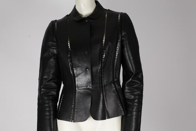Valentino Cut-out Leather Jacket Image 5