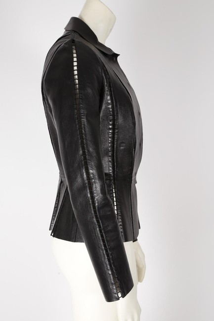 Valentino Cut-out Leather Jacket Image 7