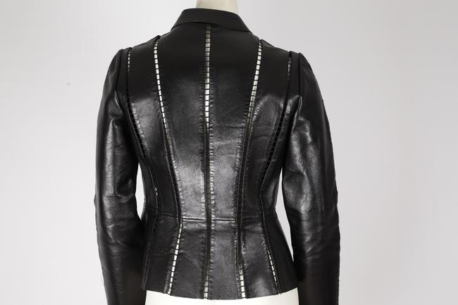 Valentino Cut-out Leather Jacket Image 9
