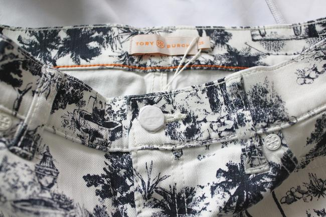 Tory Burch Mini/Short Shorts White and Navy Image 4