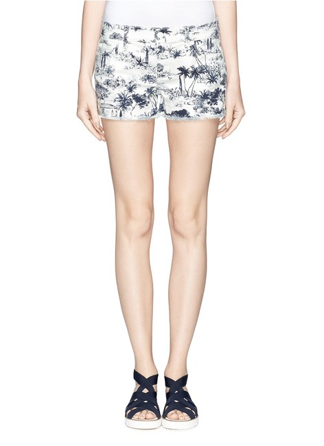 Tory Burch Mini/Short Shorts White and Navy Image 0
