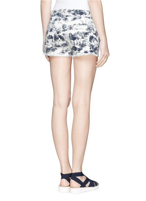 Tory Burch Mini/Short Shorts White and Navy Image 1