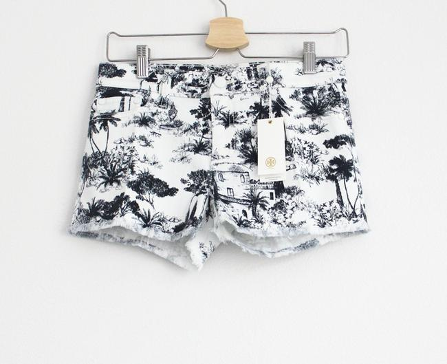 Tory Burch Mini/Short Shorts White and Navy Image 2