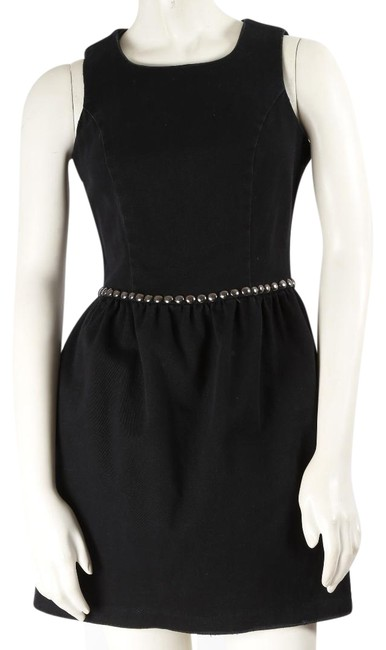 Item - Black Cotton Sleeveless Short Casual Dress Size 6 (S)