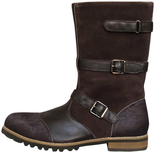 Preload https://img-static.tradesy.com/item/23437432/alexander-mcqueen-brown-calf-hair-leather-suede-mid-calf-buckle-bootsbooties-size-eu-41-approx-us-11-0-3-540-540.jpg