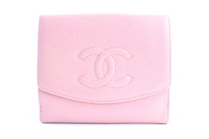 Chanel Square Coin Purse Pink Clutch