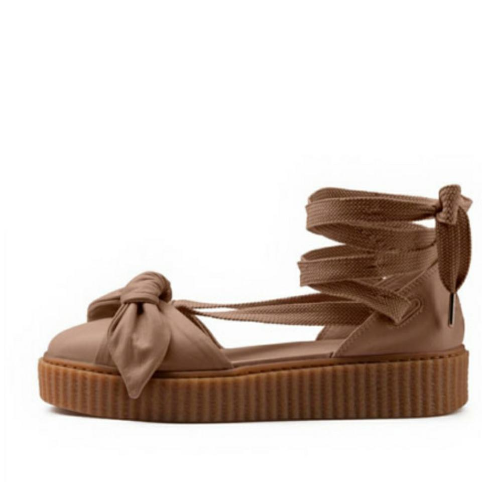 online store a5474 1b075 FENTY PUMA by Rihanna Natural Nwb Bow Creeper Sandals Flats Size US 8  Regular (M, B) 70% off retail