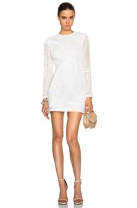 ZIMMERMANN short dress White #lace #cocktail #nightout on Tradesy