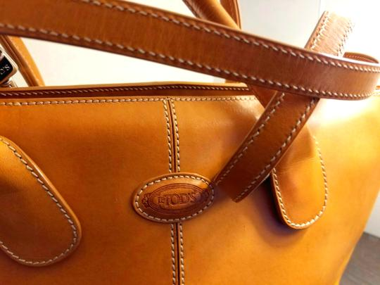 Tod's Leather Leather Leather Satchel in Tan Image 1