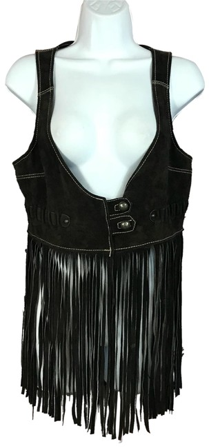 Preload https://img-static.tradesy.com/item/23438078/trafaluc-dark-brown-trf-leather-collection-fringes-suede-vest-m-blouse-size-8-m-0-1-650-650.jpg