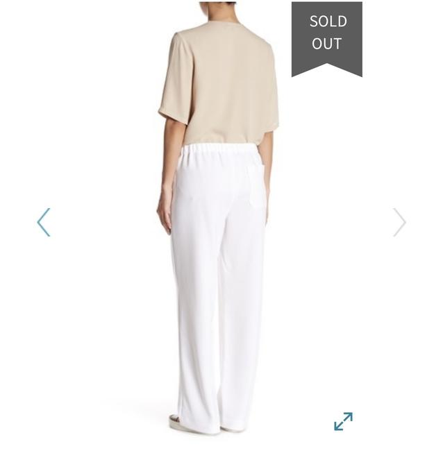 Theory Summer Comfortable Preppy Relaxed Pants White Image 1