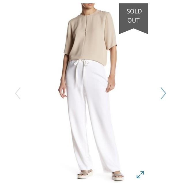 Theory Summer Comfortable Preppy Relaxed Pants White Image 2