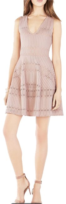 Preload https://img-static.tradesy.com/item/23438232/bcbgmaxazria-blush-bcbg-amberly-mid-length-short-casual-dress-size-8-m-0-1-650-650.jpg