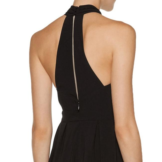 Halston Crepe Halter Cut-out Keyhole Pleated Dress Image 4
