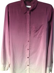 Equipment Ombre Silk Spring Night Out Summer Top Purple