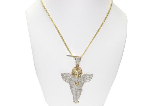 Other 14 kt. Yellow Gold Franco Chain with Diamond Angel Pendant Image 1