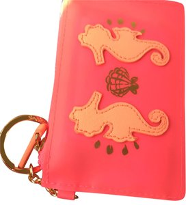 Lilly Pulitzer seahorse pink key chain card case