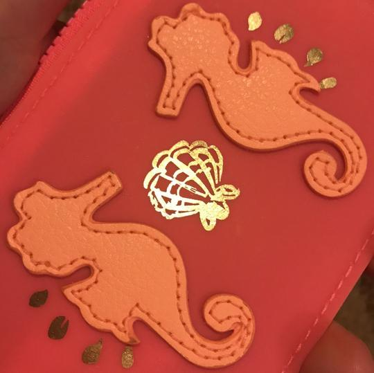Lilly Pulitzer seahorse pink key chain card case Image 3