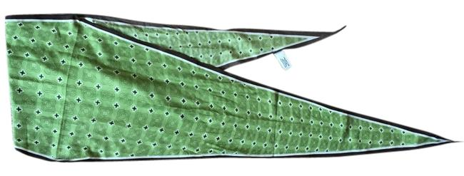 Item - Green White and Brown For Hair Or Waist Or Neck Scarf/Wrap