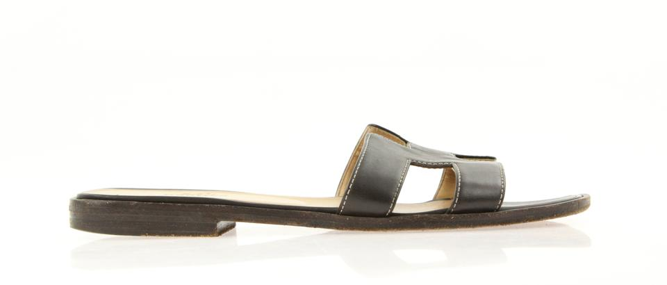 4fb4bbf5969b Hermès Brown Dark Oran Sandals. Size  EU 37 (Approx. US 7) Regular (M ...