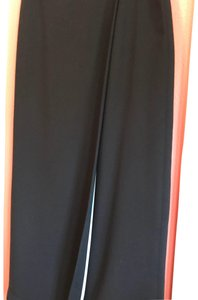 Studio G Maxi Skirt black with turquoise line inside front flat.