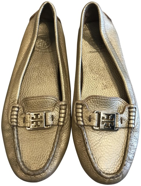 Item - Gold Loafers Flats Size US 8.5 Regular (M, B)