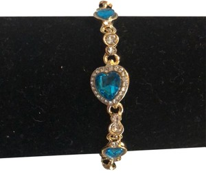 Fashion Jewelry For Everyone Gold tone Aqua Blue Gem and crystal