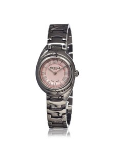 Rochas Rochas Swiss Made Pink Stainless Steel Round Lady Watch NEW $499