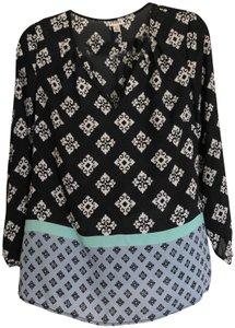 Hatley Tunic Top Black and White