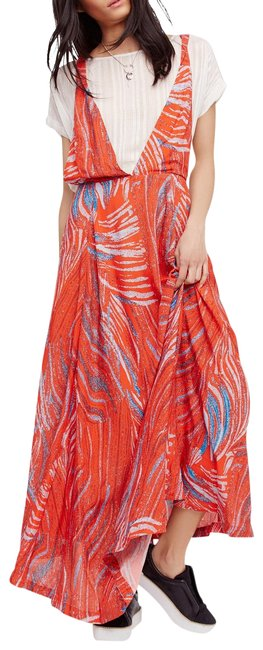 Item - Red Multi A Thousand Kisses Layer Look M Long Casual Maxi Dress Size 10 (M)