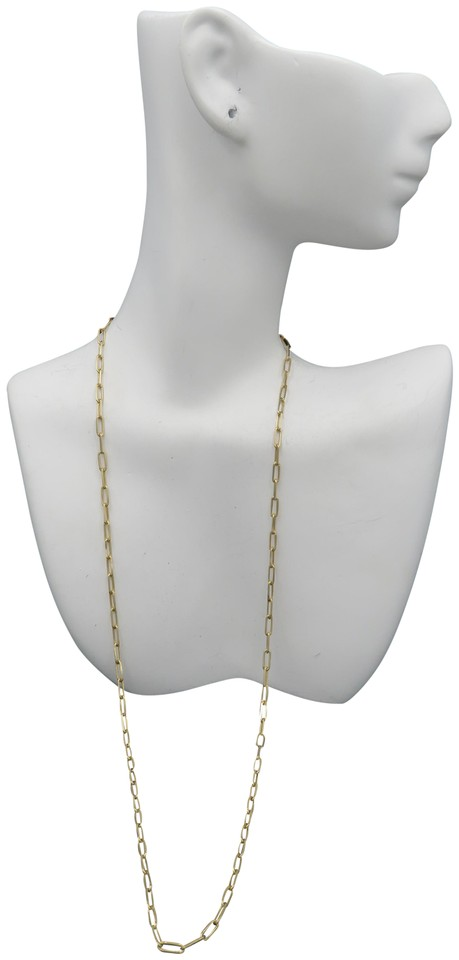 Gold 14k Yellow Paperclip Chain 2.5mm 20