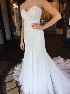 c084eeee64cd Wtoo Ivory/Oyster Soft Net Beaumont Traditional Wedding Dress Size 12 (L)