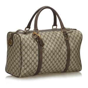 Gucci Beige and Brown GG Travel Bag