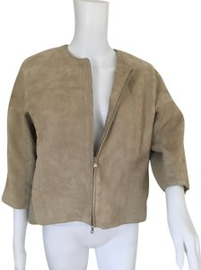 KAUFMANFRANCO Beige Leather Jacket