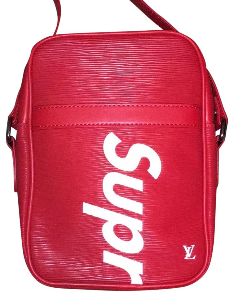 8f21d6b31ac9 Louis Vuitton x Supreme Red Leather Messenger Bag - Tradesy