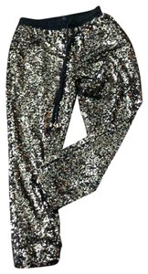 Forever 21 Relaxed Pants black and gold