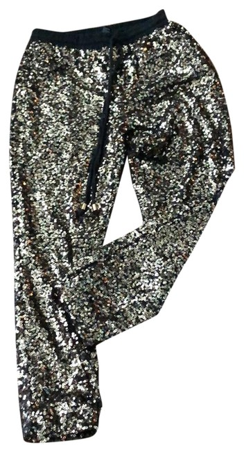 Item - Black and Gold Sequin Pants Size 8 (M, 29, 30)