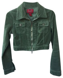 Paris Blues Crop Cropped Crop Olive Green Jacket