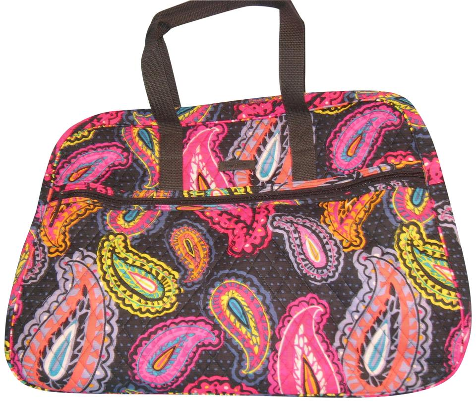 Vera Bradley Grand Twilight Paisley Quilted Cotton Weekend Travel ... 1773f020fb022